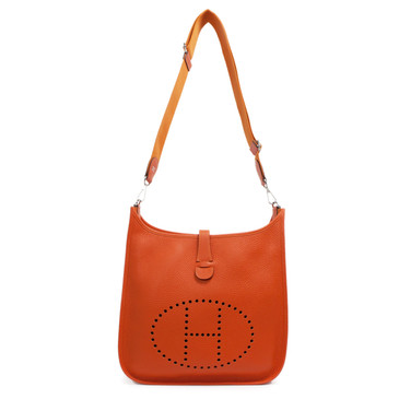 Hermes Orange Clemence Evelyne III GM