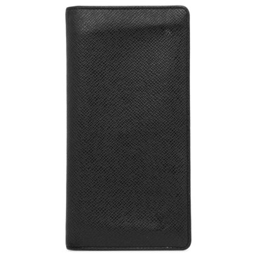 Louis Vuitton Black Taiga Brazza Wallet