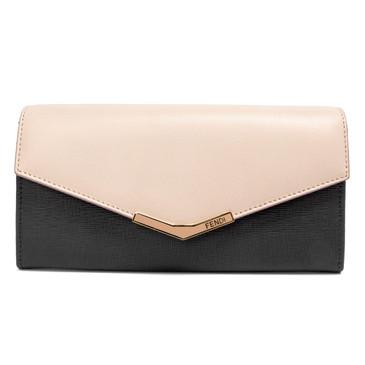Fendi Pink & Grey Leather 2Jours Wallet