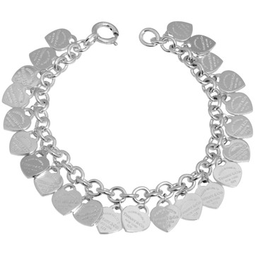 Tiffany & Co. Sterling Silver Multi-Heart Tag Bracelet