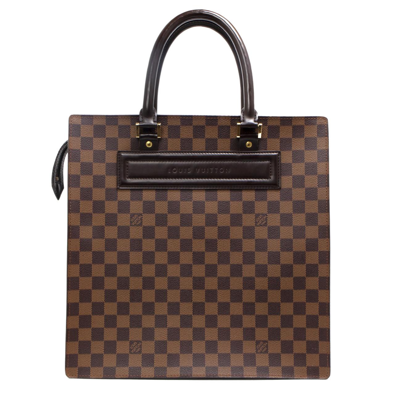 4e0766eb3b64 Louis Vuitton Damier Ebene Venice Sac Plat GM - modaselle