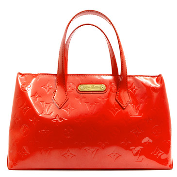 Louis Vuitton Orange  Vernis Wilshire PM