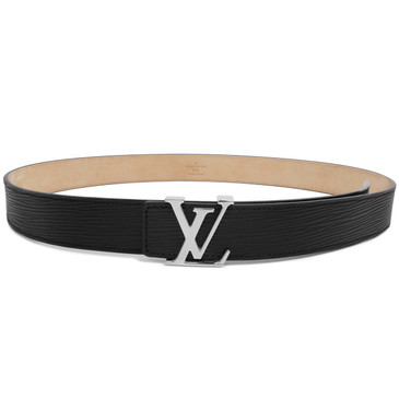 Louis Vuitton Black Epi Initiales 30mm Belt