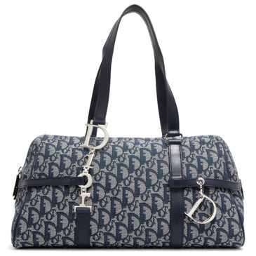 Dior Blue Monogram Canvas Tote
