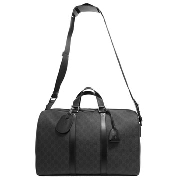 Gucci Black GG Supreme Canvas Duffle Bag