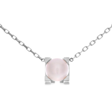 Cartier 18K White Gold & Pearl C de Cartier Necklace