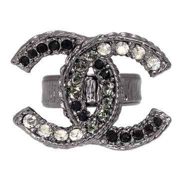 Chanel Ruthenium Crystal CC Ring