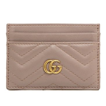 Gucci Nude Matelasse GG Marmont Card Case