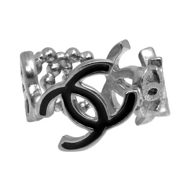Chanel Ruthenium CC Band Ring