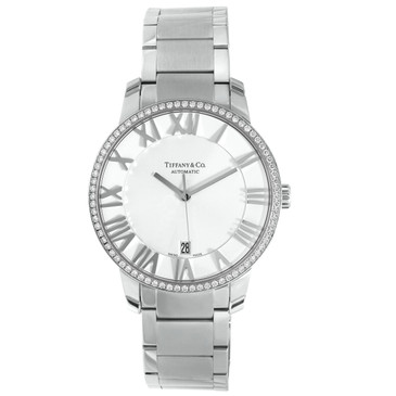 Tiffany & Co. Stainless Steel & Diamond 3-Hand 37.5mm Atlas Automatic Watch