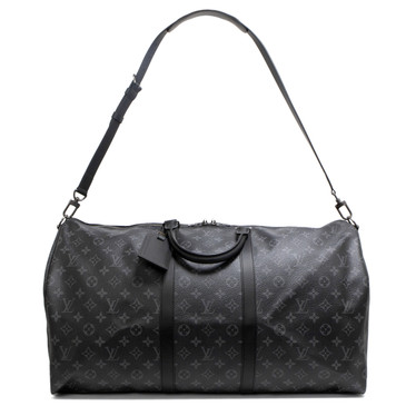 Louis Vuitton Monogram Eclipse Keepall Bandouliere 55