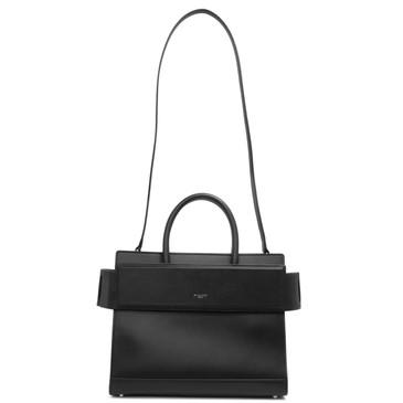 Givenchy Black Smooth Calfskin Small Horizon Satchel
