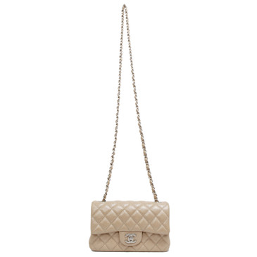 Chanel Pearl Quilted Caviar Mini Rectangular Flap