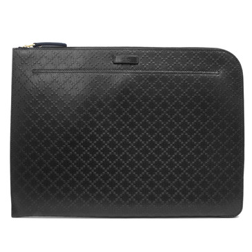 Gucci Black Diamante Travel Laptop Document Case