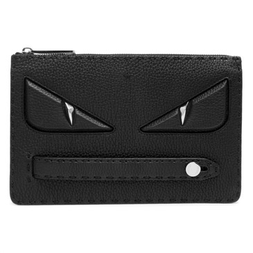 Fendi Black Selleria Bag Bugs Monster Clutch