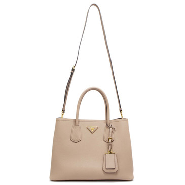Prada Cammeo Saffiano Cuir Small Double Bag