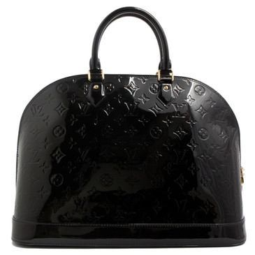 Louis Vuitton Noir Vernis Alma GM