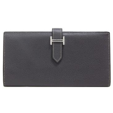 Hermes Grey Epsom Bearn Gusset Wallet