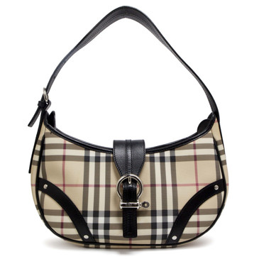 Burberry House Check Buckle Hobo