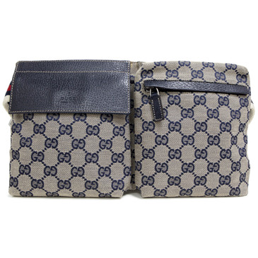 Gucci Blue Monogram  Belt  Bag