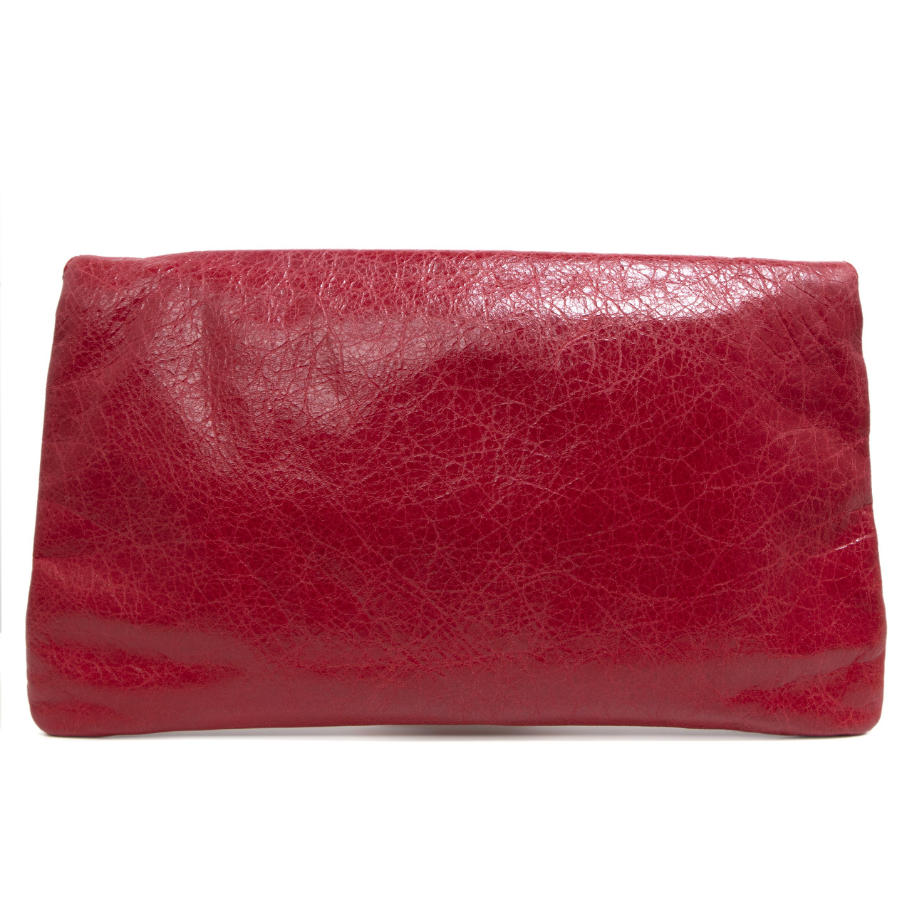 Balenciaga Red Lambskin Giant 12 Envelope Clutch - modaselle d5c6727a662f7