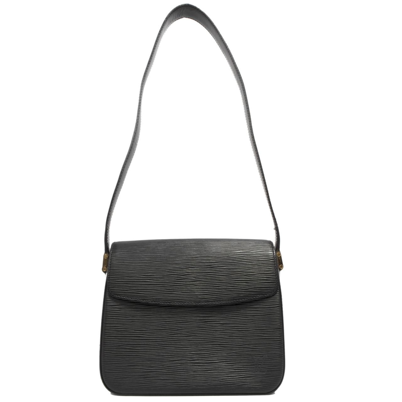 Louis Vuitton Black Epi Buci Bag - modaselle 47fd14298a7ed