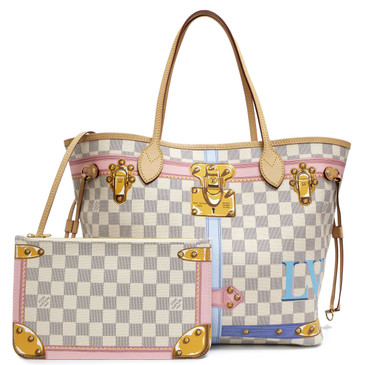Louis Vuitton Damier Azur Summer Trunks Neverfull MM
