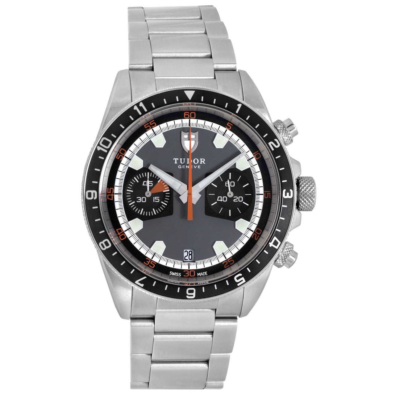 be34c08ff Tudor Stainless Steel Heritage Chrono Automatic Watch 70330N - modaselle