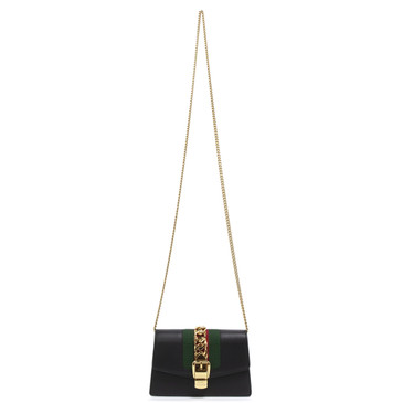 Gucci Black Super Mini Sylvie Chain Bag