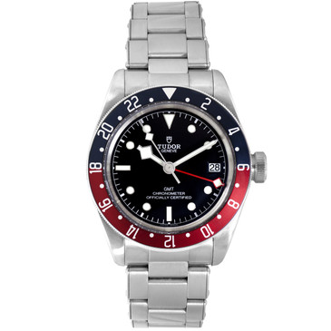 Tudor Stainless Steel Black Bay GMT Automatic Watch 79830RB
