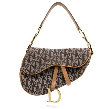 Christian Dior Brown Monogram Saddle Bag