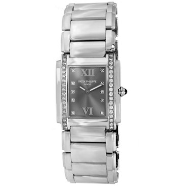 Patek Philippe Stainless Steel & Diamond Twenty-4 Ladies Quartz Watch 4910-10A-010