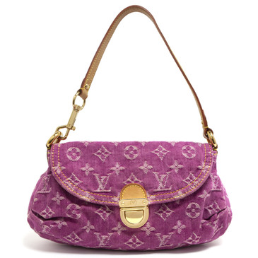 Louis Vuitton Monogram Pink Denim Mini Pleaty