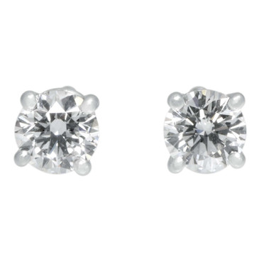 Tiffany & Co. Platinum Diamond Solitaire Earrings