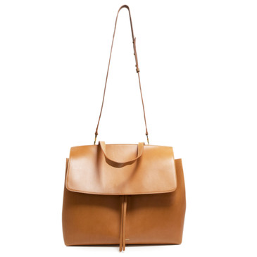 Mansur Gavriel Cammello/Rosa Calfskin Large Lady Bag