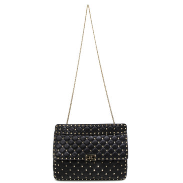 Valentino Black Nappa Large Rockstud Spike Bag