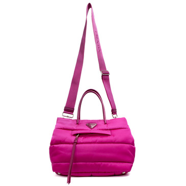 Prada Fuxia Tessuto Bomber Small Shopper Bag