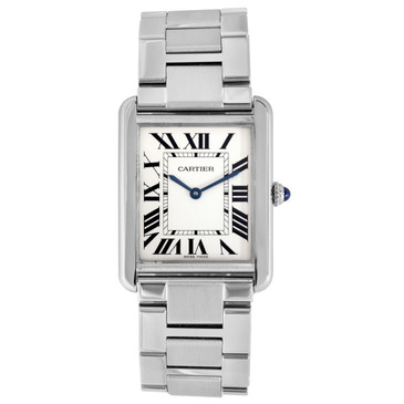 Cartier Stainless Steel Tank Solo Large Watch W5200014
