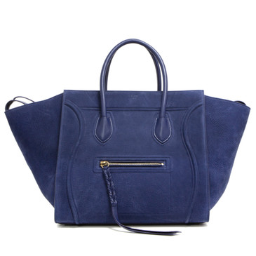 Celine Blue Nubuck Medium Phantom