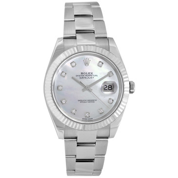 Rolex Datejust 41 Mother of Pearl & Diamond Watch 126334