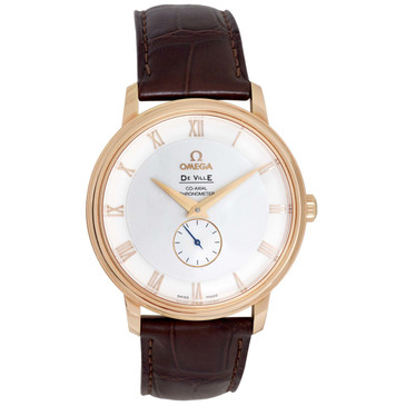 Omega 18K Rose Gold De Ville Prestige Co-Axial Small Seconds Watch 4614.30.02