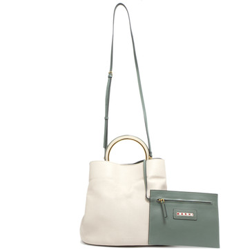 Marni Tea Green and Antique Large Pannier Bag
