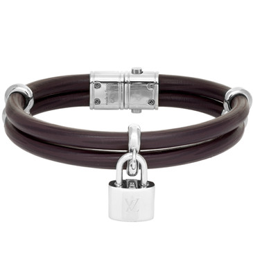Louis Vuitton Burgundy Epi Keep It Twice Bracelet