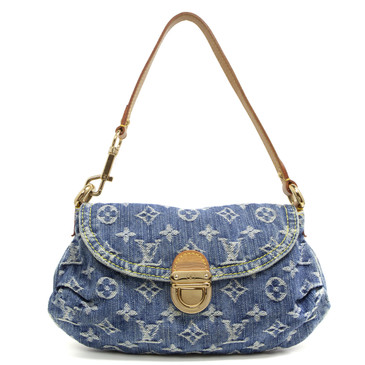 Louis Vuitton Monogram Blue Denim Mini Pleaty