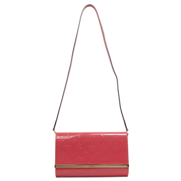 Louis Vuitton Rose Litchi Vernis Ana Clutch