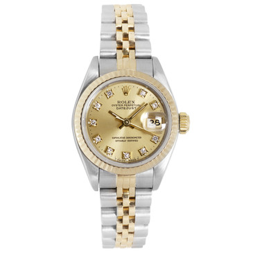 Rolex 18K & Stainless Steel Ladies Datejust  69173