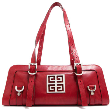 Givenchy Red Small East West Zip Bag
