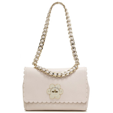Mulberry Light Berry Cream Goatskin Small Cecily Flower Bag