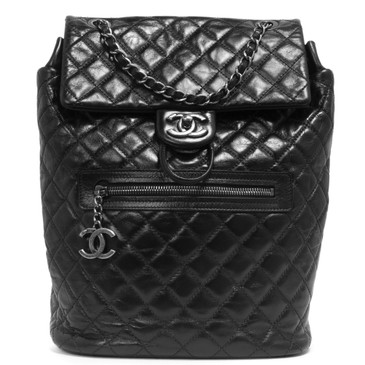 Chanel Black Quilted Calfskin Salzburg Mountain Backpack