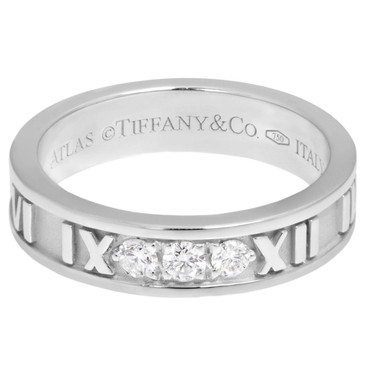 Tiffany & Co. 18K  White Gold & Diamond Atlas Ring